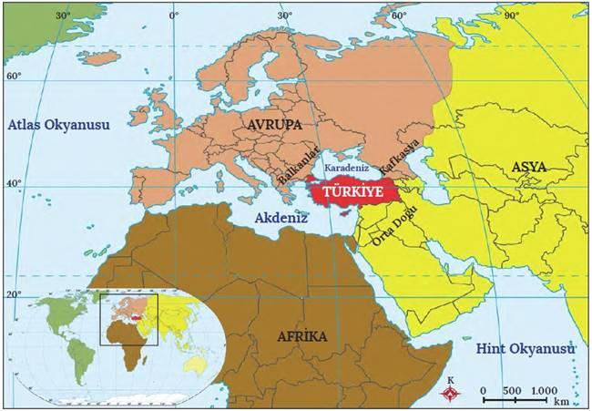 özel konum, göreceli konum, türkiyenin özel konumu, türkiyenin göreceli konumu